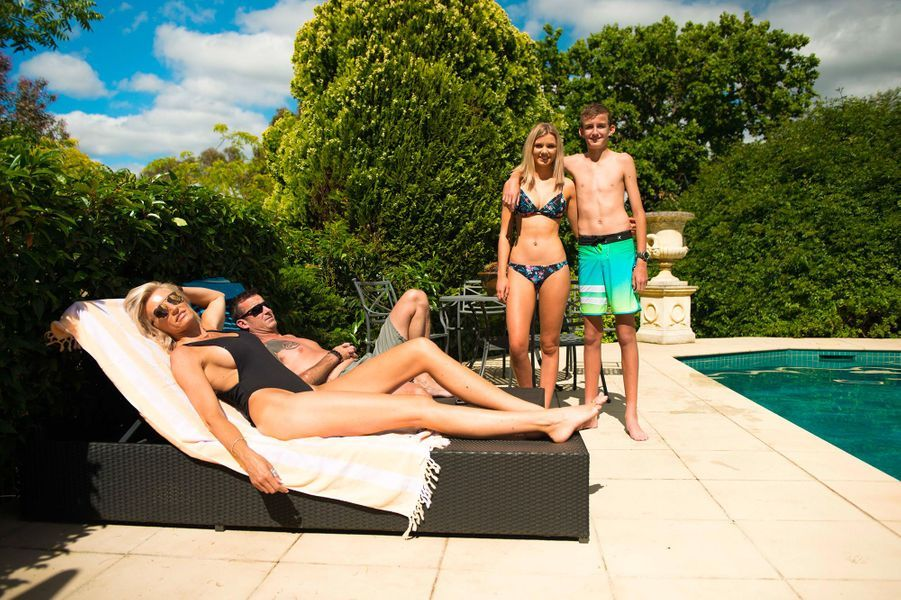 Caroline Arthur et sa famille