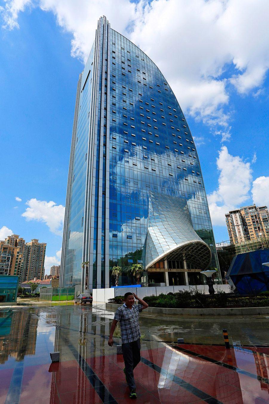 Le Liebian International Building est construit dans la ville de Guiyang.