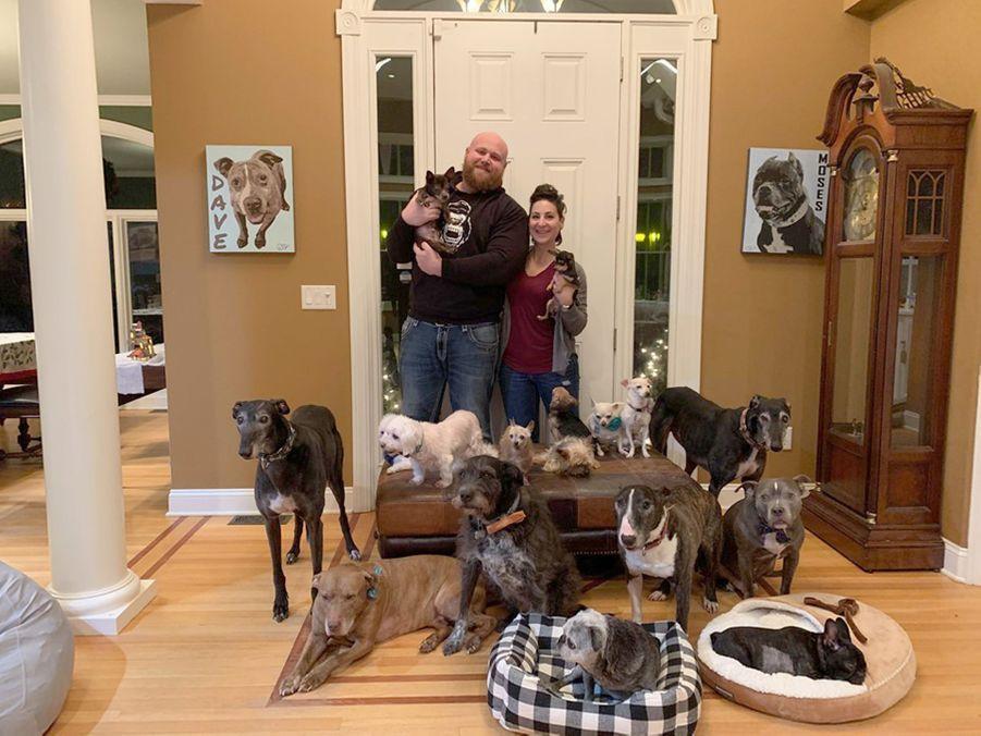 Chris, Mariesa et les chiens.
