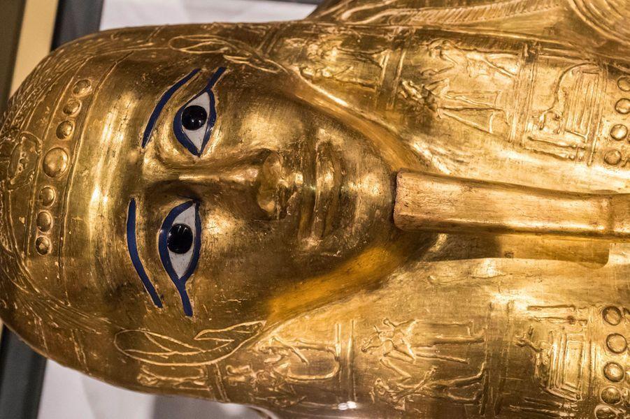 Le sarcophage deNedjemankh auMusée national de la civilisation égyptienne au Caire.
