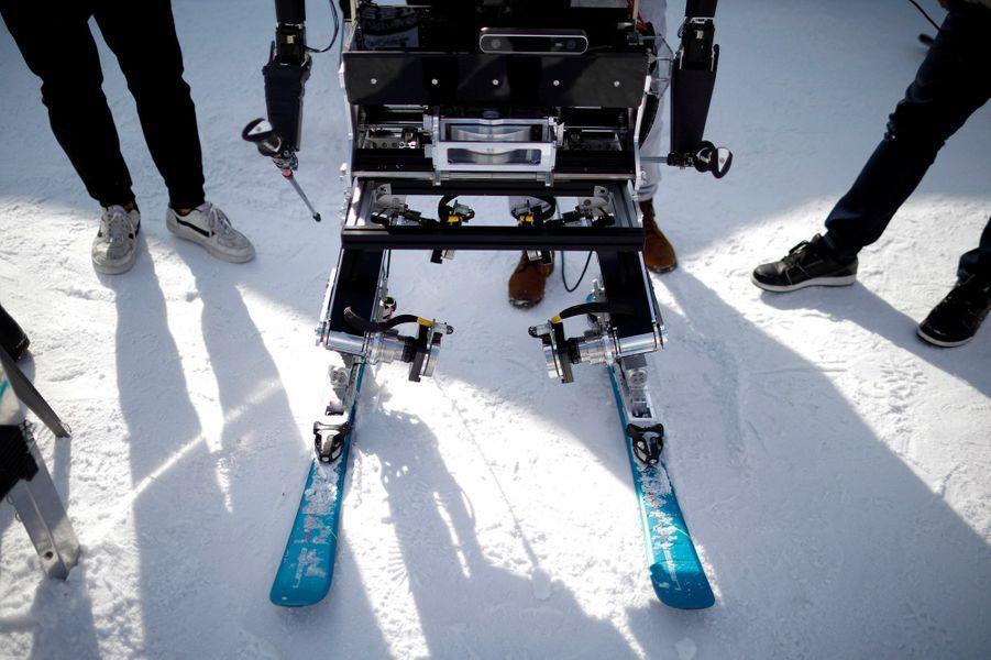 "Lors du ""Ski Robot Challenge"""
