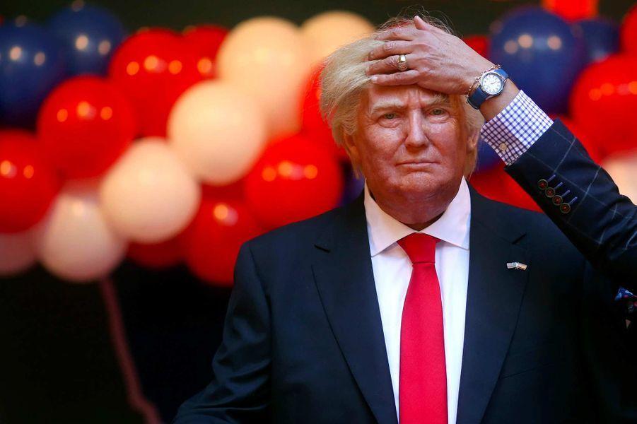 Une statue de cire de Donald Trump à Madrid, en janvier 2017.