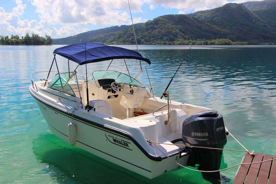 Il faut environ 5 minutes en bateau pour relier Raiatea en bateau.