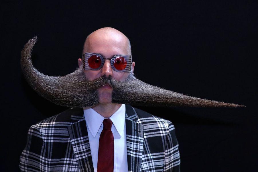 L'édition 2019 deschampionnats du monde de la barbe et de la moustache, à Anvers (Belgique).