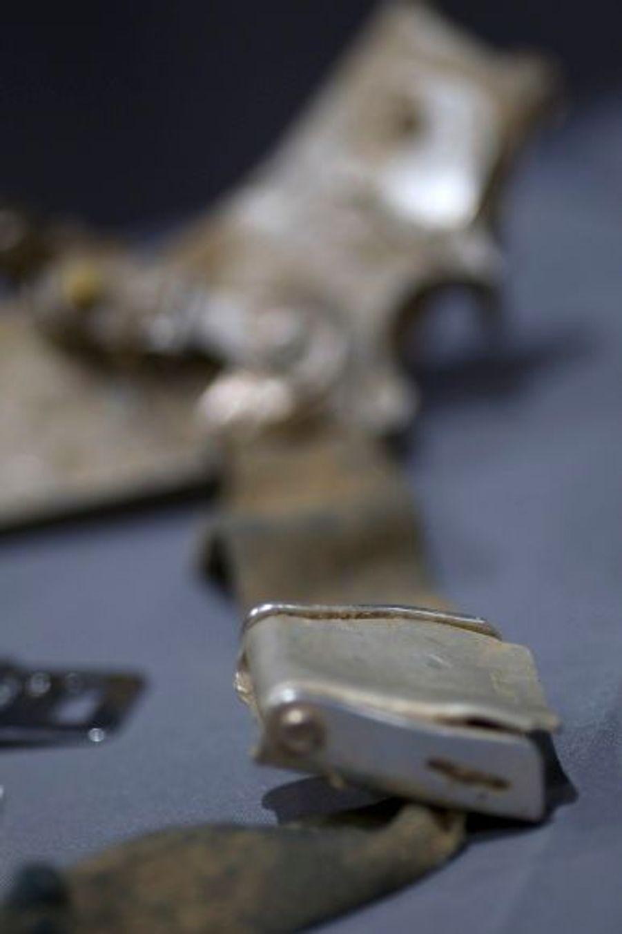 Une ceinture de sécurité provenant du vol 93, qui s'est écrasé à Shanksville.
