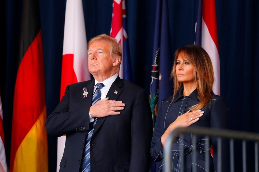 Donald et Melania Trump àShanksville, le 11 septembre 2018.