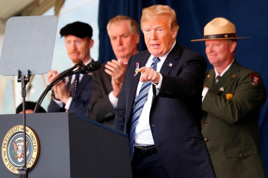 Donald Trump àShanksville, le 11 septembre 2018.
