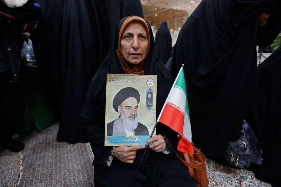 Téhéran, pour le 40e anniversaire de la Révolution iranienne.