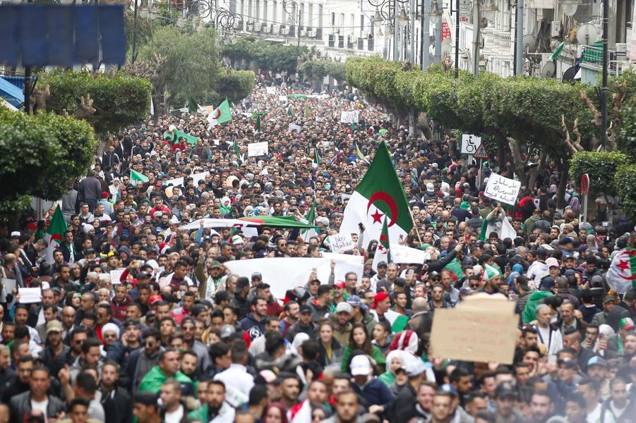 Manifestation à Alger, le 8 mars 2019.