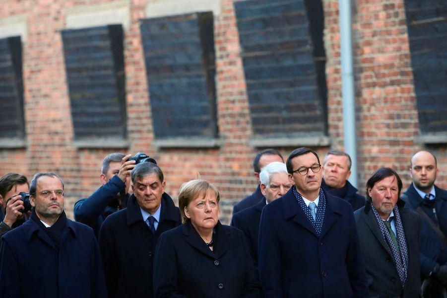 La chancelière allemande Angela Merkel a visité le camp d'Auschwitz, le 6 décembre 2019.