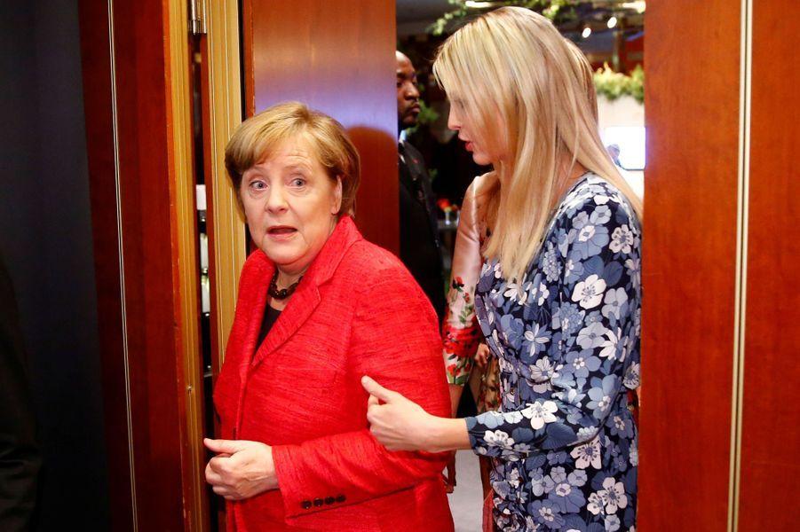 Ivanka Trump et Angela Merkel au sommet Women 20 à Berlin, le 25 avril 2017.