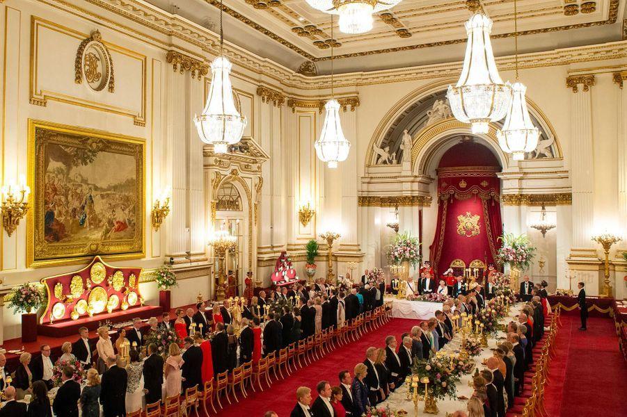Banquet d'Etat à Buckingham Palace, le 3 juin 2019.