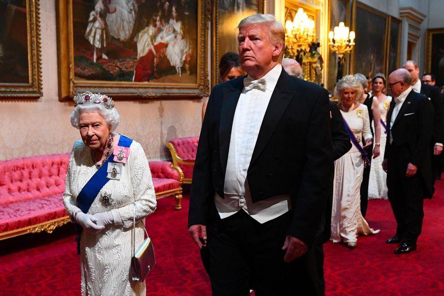 La reine etDonald Trump à Buckingham Palace, le 3 juin 2019.