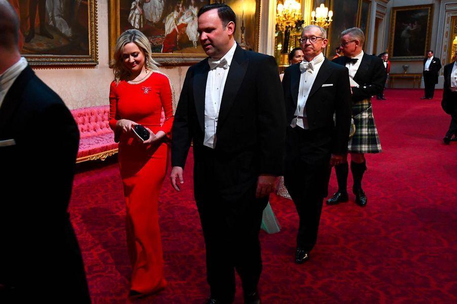 Kathryn Parsons et Dan ScavinoàBuckingham Palace, le 3 juin 2019.