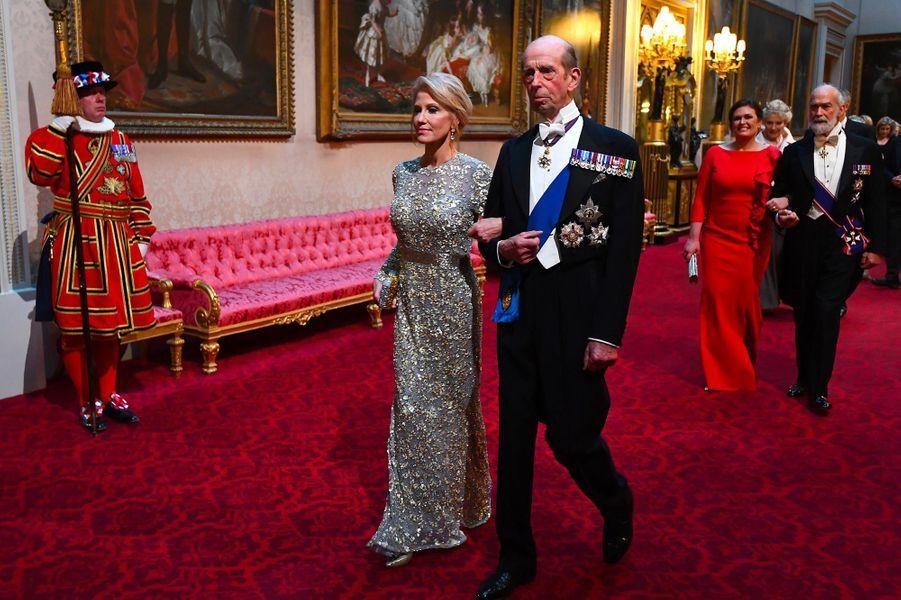 Kellyanne Conway et le duc de Kent àBuckingham Palace, le 3 juin 2019.