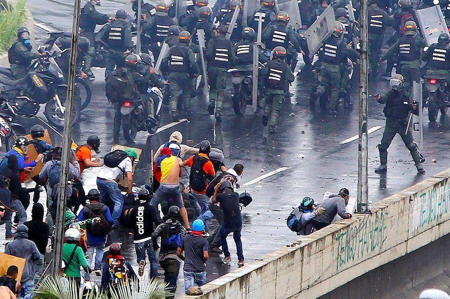 Manifestation à Caracas, au Venezuela, le 19 juin 2017.