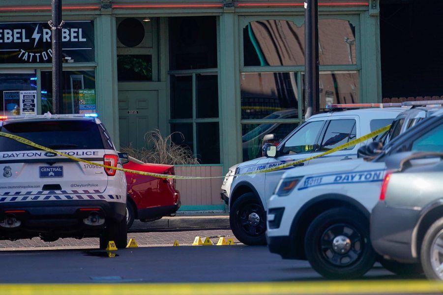 A Dayton, dans l'Ohio, après une fusillade qui a fait 9 morts et 27 blessés, le 4 août 2019.