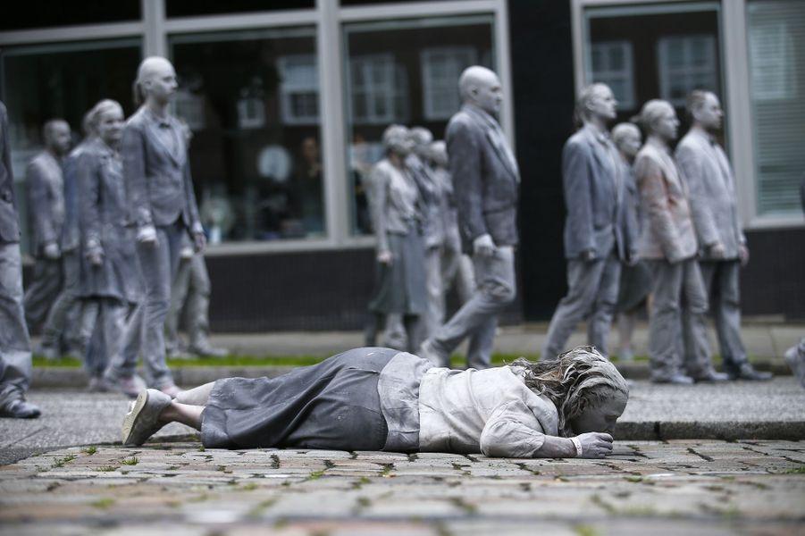 A Hambourg, manifestation contre le G20, le 5 juillet 2017.