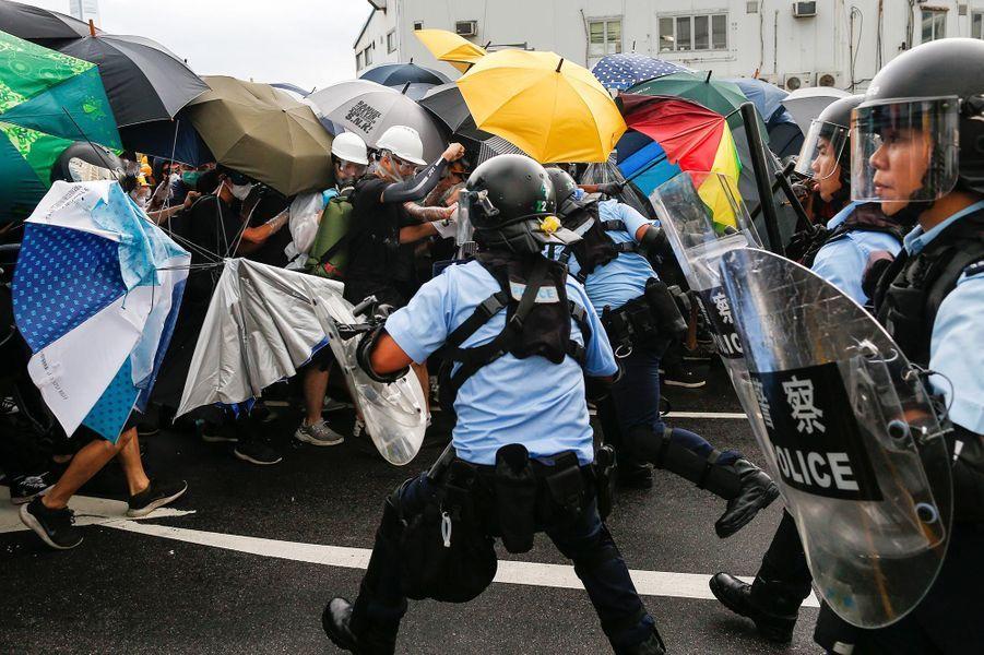 Manifestation à Hong Kong, le 1er juillet 2019.