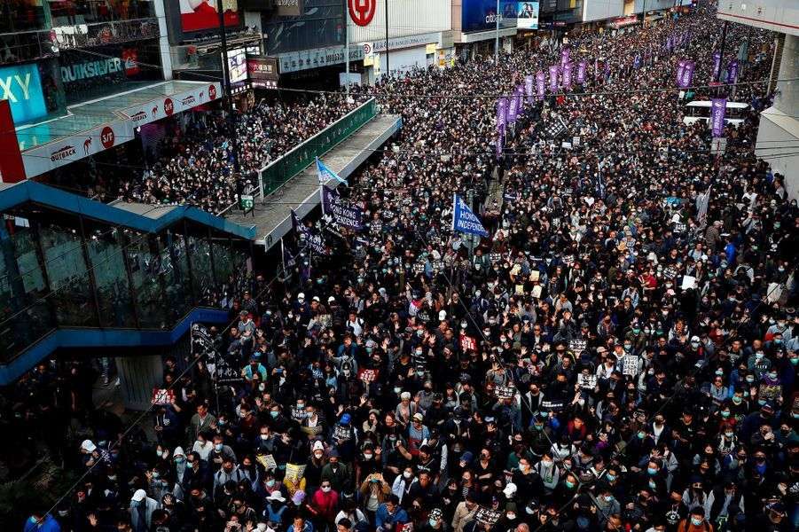 Manifestation à Hong Kong, le 8 décembre 2019.