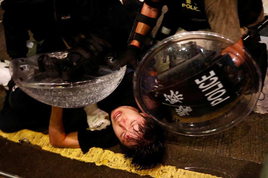 Lors de la manifestation à Hong Kong, le 31 août 2019.