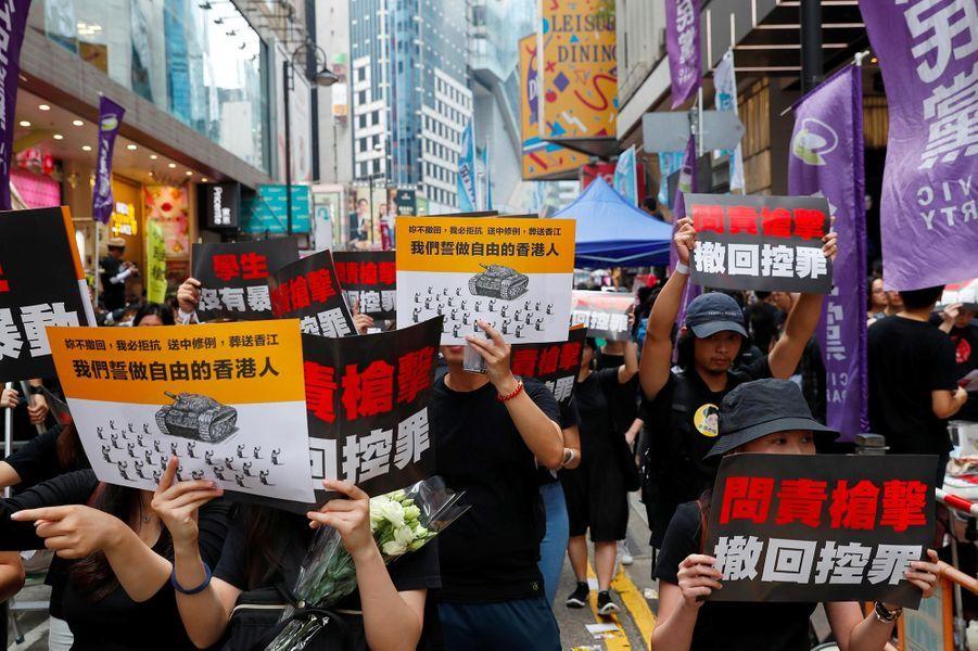 Manifestation à Hong Kong, le 16 juin 2019.