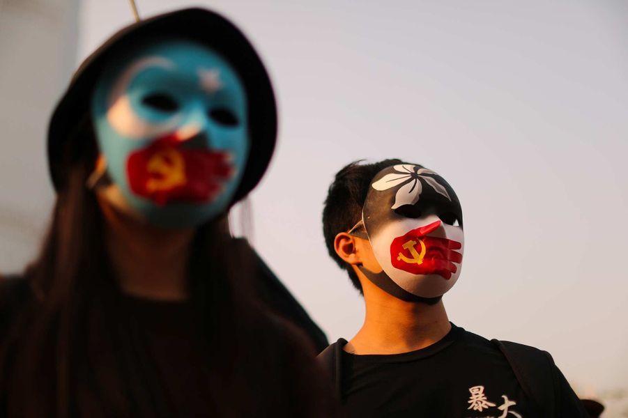 Manifestation à Hong Kong, le 22 décembre 2019.