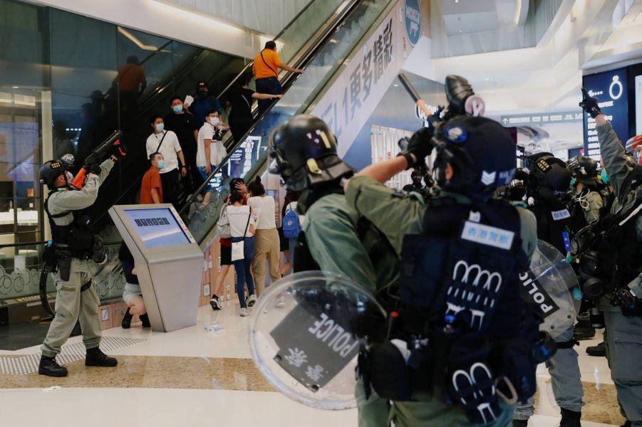 Manifestation à Hong Kong, le 10 mai 2020.
