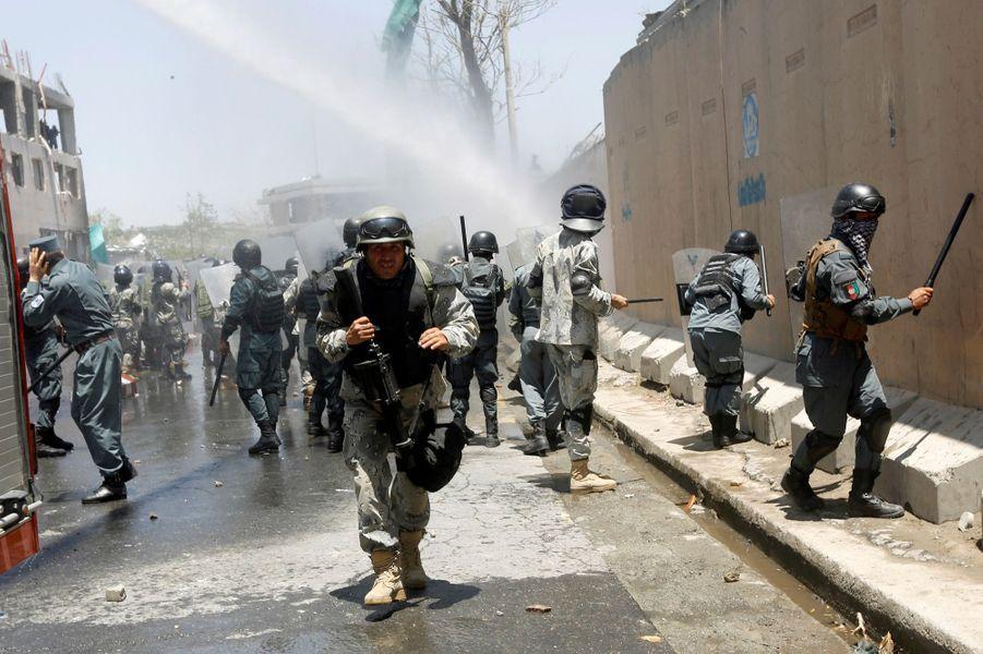 Quatre personnes ont été tuées lors d'une manifestation à Kaboul, le 2 juin 2017.