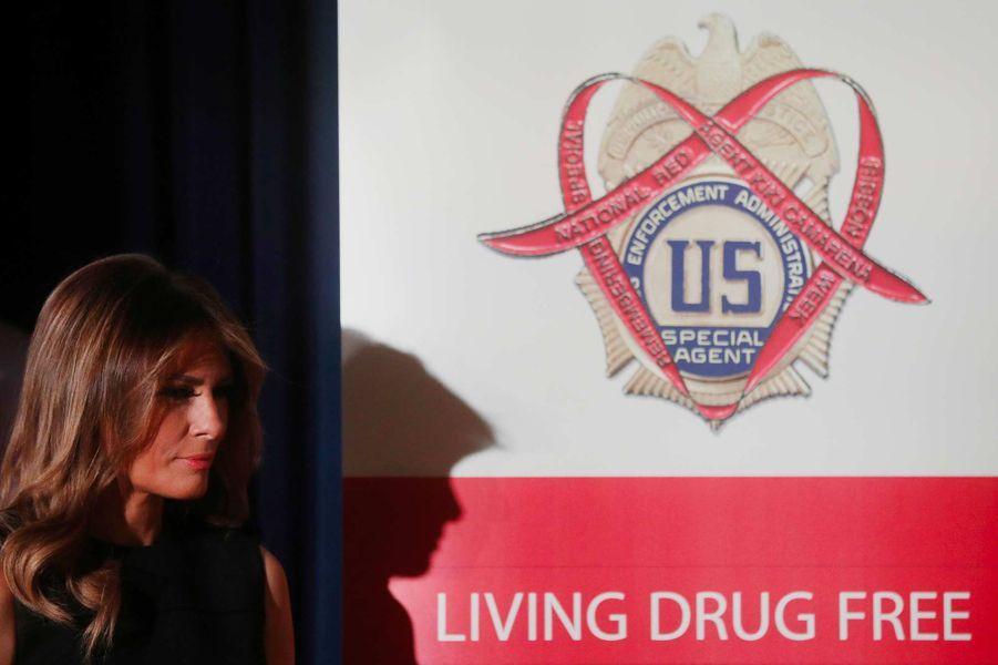 Melania Trump dans les locaux de la DEA à Arlington, en Virginie, le 7 octobre 2019.