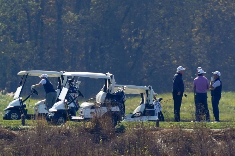 Donald Trump au Trump National Golf Course de Sterling, en Virginie, le 7 novembre 2020.