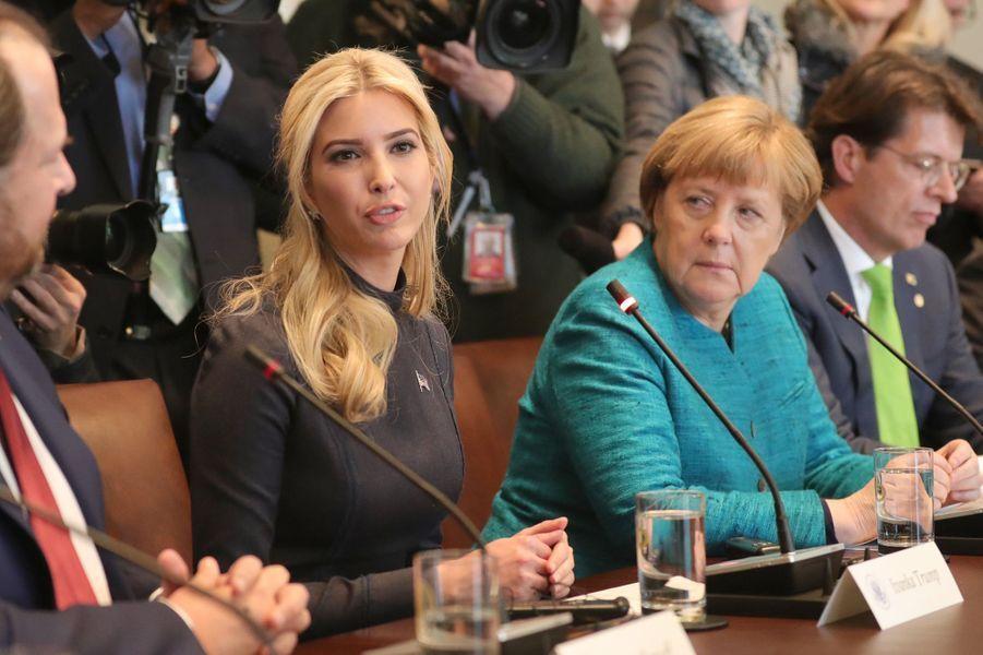Ivanka Trump et Angela Merkel à la Maison Blanche, le 17 mars 2017.