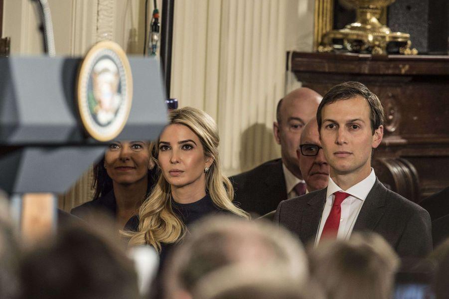 Jared Kushner et Ivanka Trump à la Maison Blanche, le 17 mars 2017.