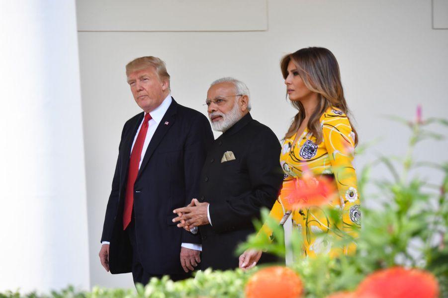 Donald Trump Narendra Modi Melania Trump