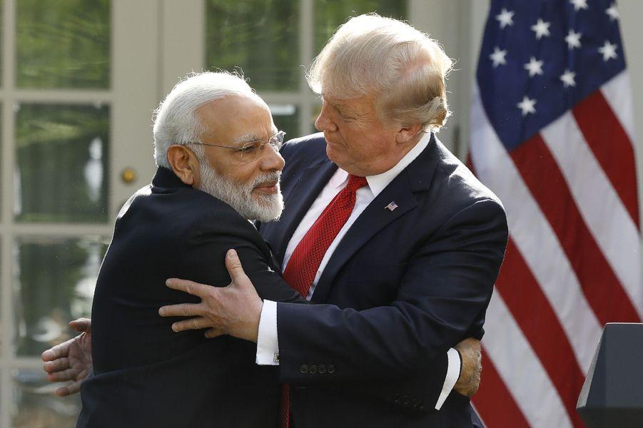 Narendra Modiet Donald Trump à la Maison Blanche, le 26 juin 2017.
