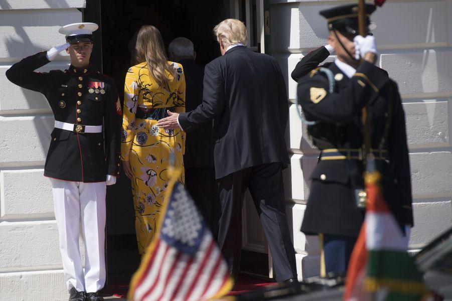Melania et Donald Trump à la Maison Blanche, le 26 juin 2017.