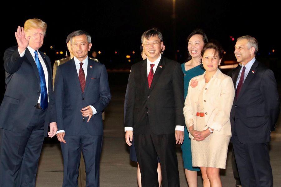 Donald Trump à son arrivée à Singapour, le 10 juin 2018.
