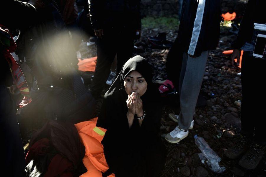 Le 4 novembre, une jeune femme encore sous le choc de la traversée