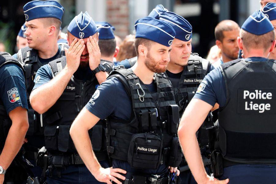 Hommage aux victimes de l'attaque de Liège, le 30 mai 2018.