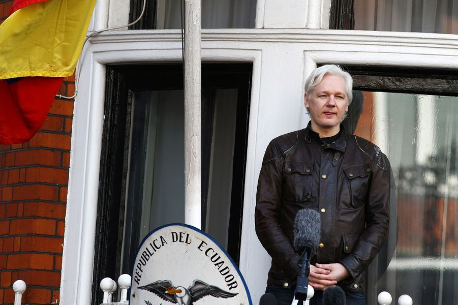 Julian Assange à Londres, le 19 mai 2017.