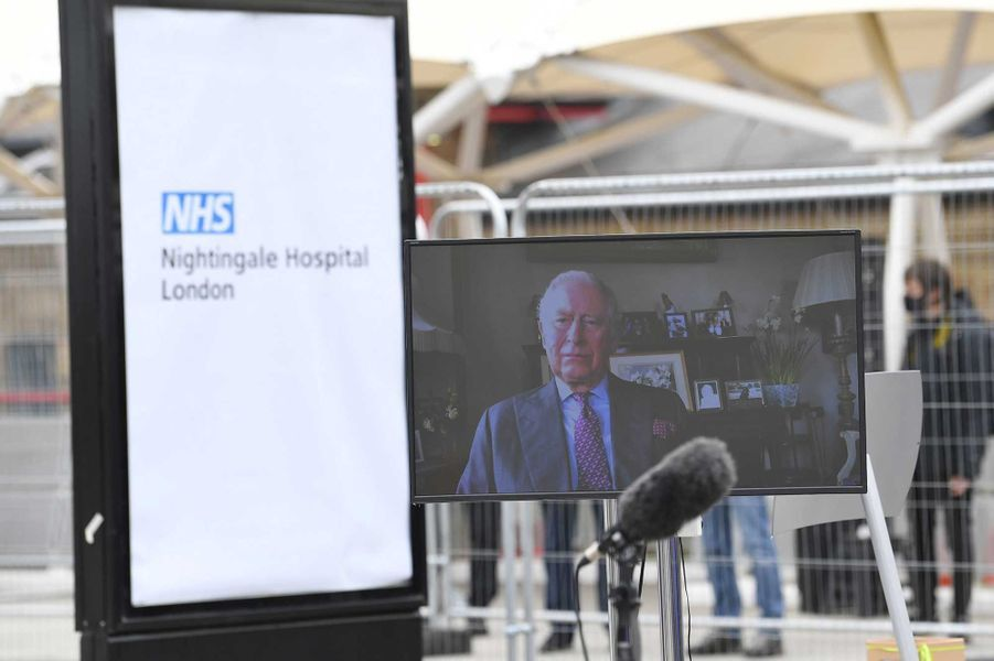 Le prince Charles a inauguré par vidéo-conférence l'hôpital de Nightingale, vendredi