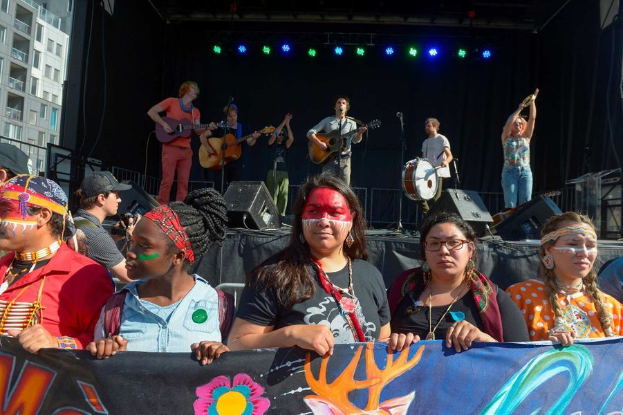 Manifestation à Montréal, au Canada, le 27 septembre 2019.