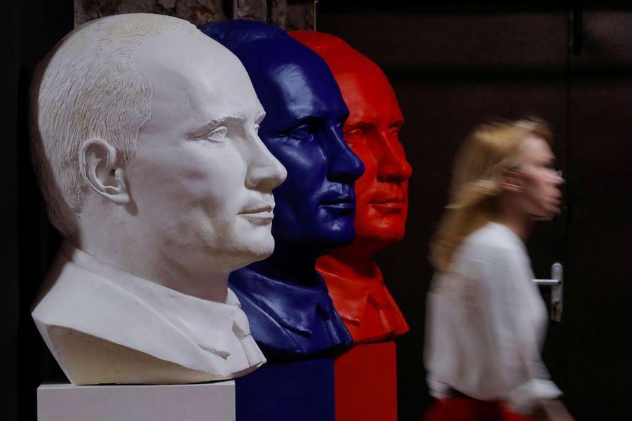 A l'exposition «SuperPutin» à Moscou, le 6 décembre 2017.