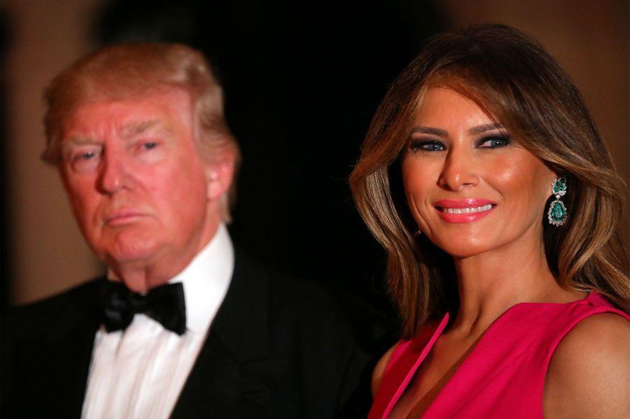 Donald et Melania Trump au gala de la Croix Rouge.