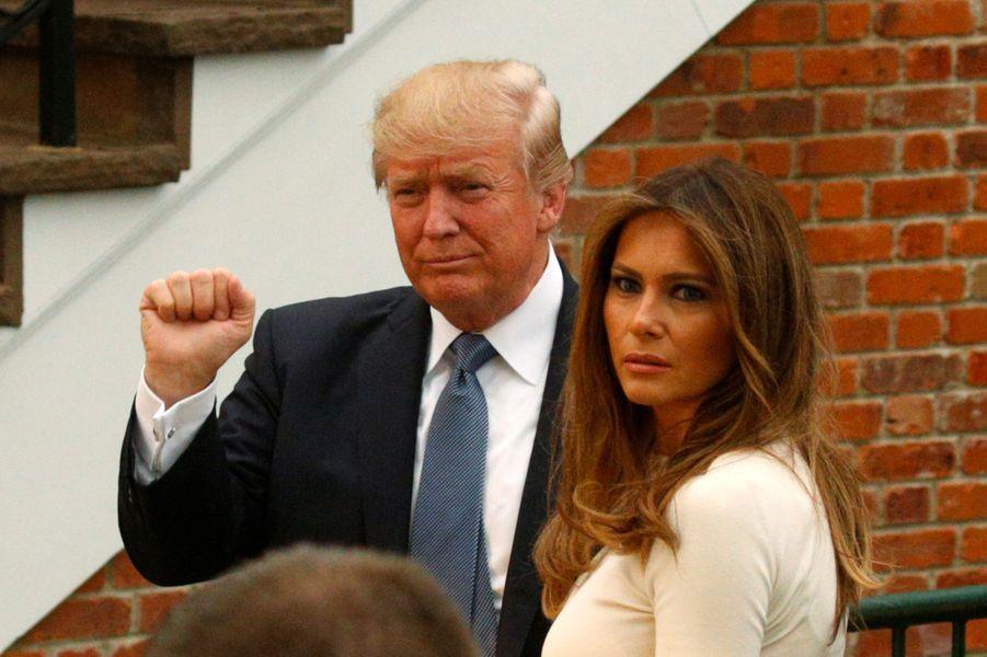 Donald et Melania Trump à Bedminster, dans le New Jersey, le 14 juillet 2017.