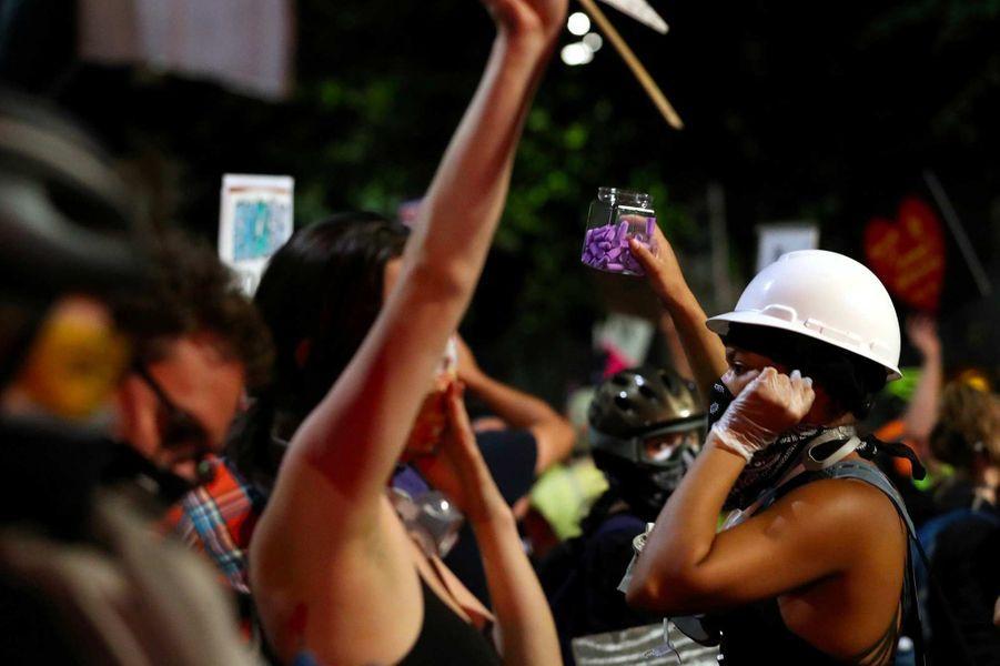 Manifestation à Portland, dans l'Oregon, le 26 juillet 2020.