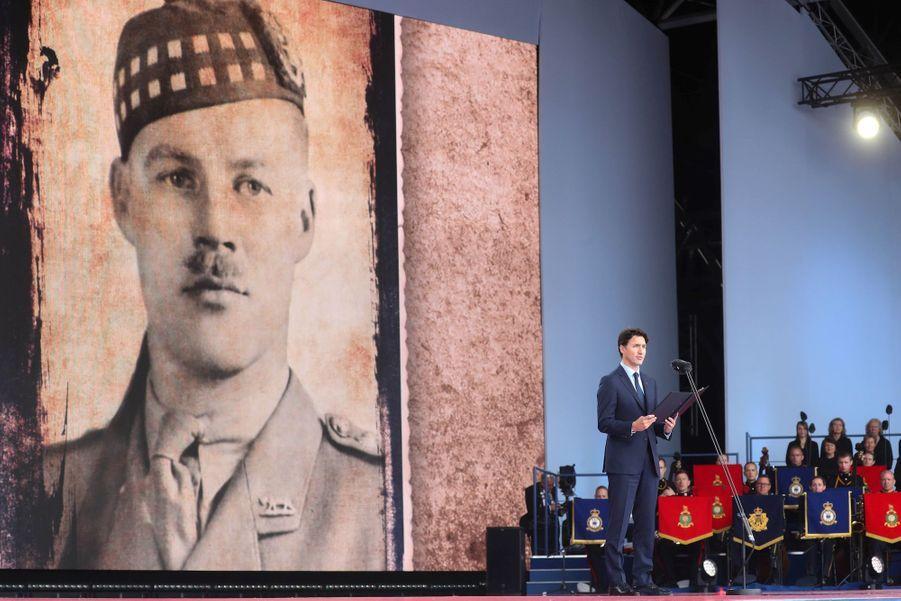 Justin Trudeau, sur scène.
