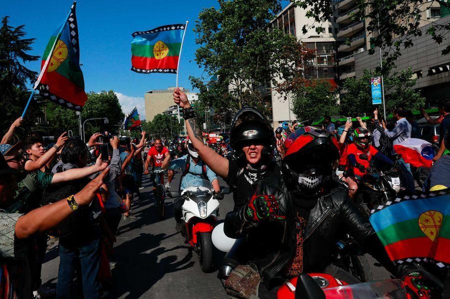 Manifestation à Santiago du Chili, le 3 novembre 2019.