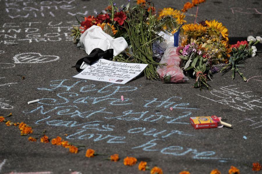 L'hommage à Heather à Charlottesville.