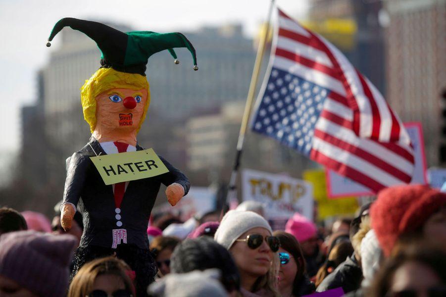 A la Women's March (la «Marche des Femmes») de Chicago, le 20 janvier 2018.